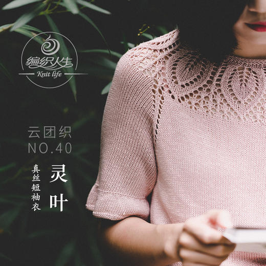 云团织NO.40灵叶真丝短袖衣手工棒针材料包 含图解 无视频 商品图0