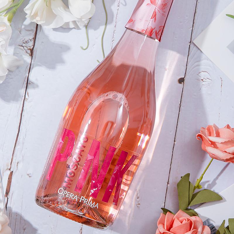 [大剧院桃红莫斯卡托低醇起泡葡萄酒]温柔甜美 气泡精致 750ml 商品图3
