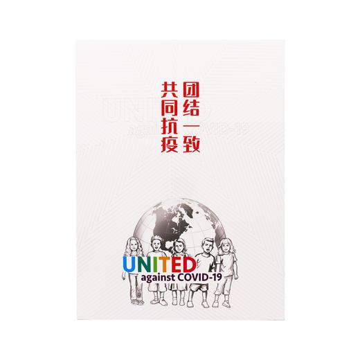 《团结一致 共同抗疫》大版邮票折 商品图3