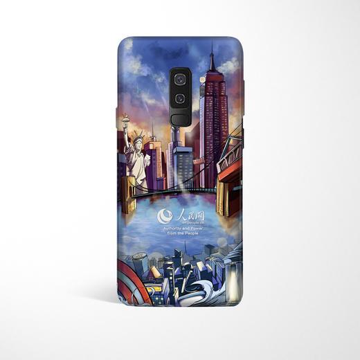 【同型号买一赠一】人民网 三星Galaxy S8/S8P/S9/S9P/Note 8 陪你看世界 环保彩绘手机壳 全包边保护套 12款 商品图0