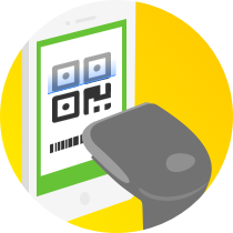 服务员使用智能POS扫描顾客付款码完成收款,设备自动打印小票