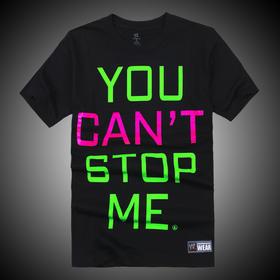 WWE 正品 约翰·塞纳John Cena You Can't Stop Me 短袖T恤