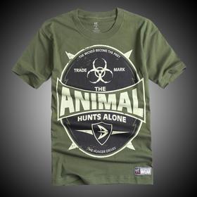 WWE 正品 巴蒂斯塔Batista The Animal Hunts Alone 短袖T恤