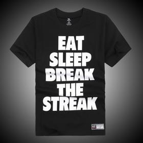 WWE正品 布洛克·莱斯纳Brock Lesnar Eat,Sleep, Break The Streak 短袖T恤
