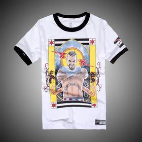 WWE 正品 朋克CM Punk Second City Saint 短袖T恤