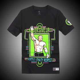 WWE 正品 约翰·塞纳John Cena Neon 短袖T恤