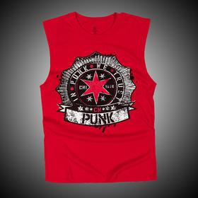 WWE 正品 朋克CM Punk 无袖T恤