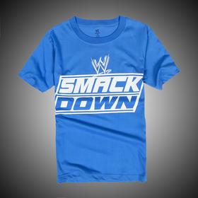 WWE 正品 徽标SMACKDOWN 短袖T恤