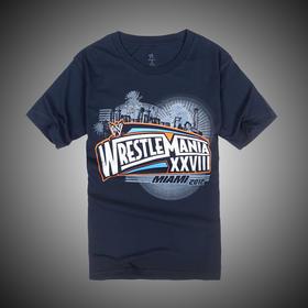 摔角狂热28Wrestlemania Navy 蓝 短袖T恤