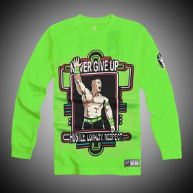 约翰·塞纳John Cena Neon Green 长袖T恤