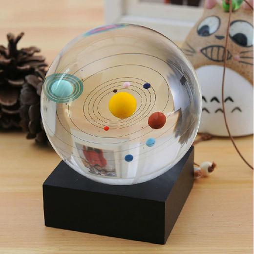 【为思礼 ZOYO】八大天体水晶球 水晶摆件 创意时尚家居摆饰 商品图0