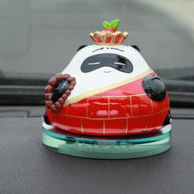 懒熊猫唐僧可爱高档汽车香水座摆件创意车内饰品车载香水瓶摆设