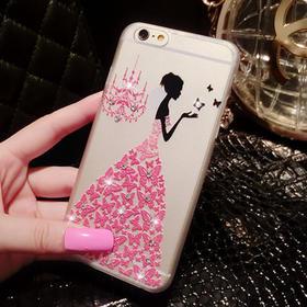 iphone6立体浮雕镶钻手机套