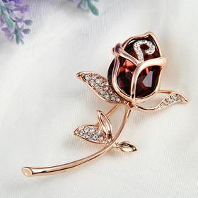 情人节礼物 精致玫瑰花胸针