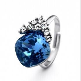 新光饰品  清澈海洋戒指