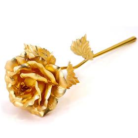 昇和珠宝 24K金箔玫瑰花金玫瑰浪漫生日情人节礼物送女友老婆