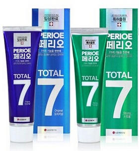 韩国进口正品 LG perioe 倍瑞奥牙膏 7种功能合为一体