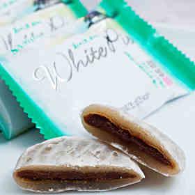 韩国进口三进白色恋人糯米馅饼白巧克力夹心打糕派