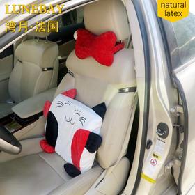 汽车用品骨头枕颈枕一对,天然乳胶防螨虫,卡通颈枕