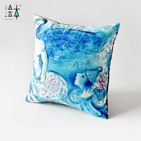 绘本 夏加尔 艺术抱枕沙发靠垫欧式创意布艺靠枕抱枕家饰靠包