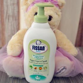 意大利原装纯植物fissan宝宝洗护二合一洗发水沐浴露乳400ml
