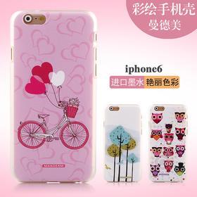 iPhone6新款超薄手机壳苹果6保护套壳4.7寸ip6彩绘保护外壳套硬壳