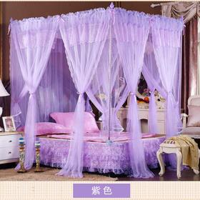 商场专供 舒珀布蕾不锈钢坐床双层宫庭蕾丝蚊帐 007浪漫爱情