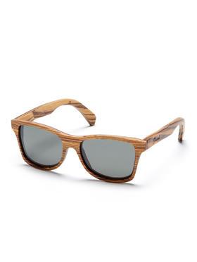 Shwood 坎比木质条纹旅行者眼镜