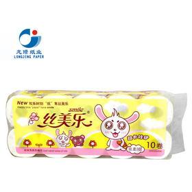 丝美乐 SK1175 卡通呆呆兔系列 有芯卷筒纸卫生纸 10卷/提*3