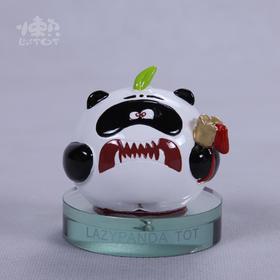 撞撞可爱熊猫汽车香水座摆件公仔创意卡通车内饰品车载香水瓶摆件