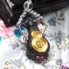 上海造币厂 琉璃车挂件  出入平安 (金币)