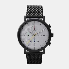 Hygge 北欧简约风格黑白拼接不锈钢表(丹麦)|钢表