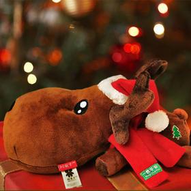 Ideashow毛绒玩具除味竹炭包娃娃圣诞节礼物一鹿平安卡通车饰公仔