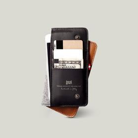 Hardgraft手工牛皮iPhone 6/6s/Plus手机钱包 | 褐色(英国)