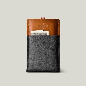 Hardgraft iPhone 6/Plus 手工牛皮羊毡手机保护套|褐色(英国)