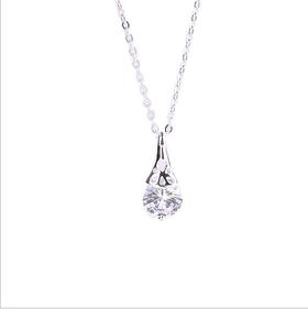 精致闪耀镶钻细项链 女 韩版项链 锁骨长款饰品  镶钻不褪色