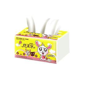 丝美乐SK7045 卡通呆呆兔系列 双层方巾纸45抽/包 *120包