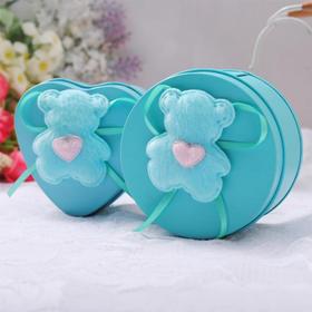 绎美 创意礼品 小蓝熊铁盒 螺纹型正品安全套套10只装 情趣用品 送爱人送女友