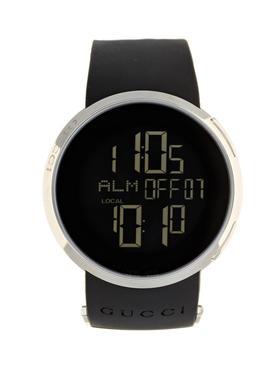 Gucci Watches 不锈钢黑色数字手表