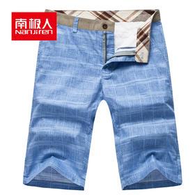 南极人 宽松亚麻休闲短裤