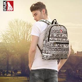 【爱心箱送】加拿大INUK新款 时尚潮流旅行印花双肩包男女学生背书休闲背包