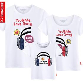 第七公社  亲子装夏装全家装2015款一家三口母女装父子纯棉短袖T恤