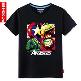 第七公社  兄弟装男士修身短袖T恤夏季2015新款韩版短袖印花T恤潮