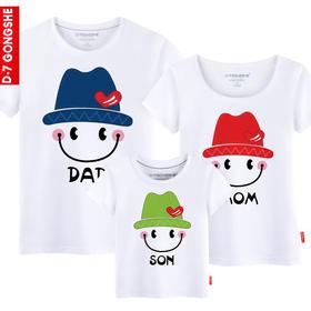 第七公社  亲子装夏装全家装2015款童装母女装父子装纯棉短袖t恤