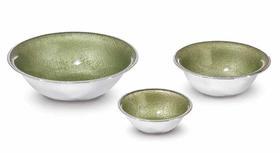意大利原装进口威尼斯手工玻璃镀银多功能碗