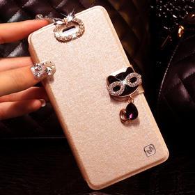 华为G730L手机壳LO75手机套G730-L075保护套水钻翻盖薄软外女皮套