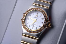 正品欧米茄 星座系列1276.75.00 女士腕表 自动机械机芯 精钢镀金表壳