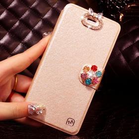 华为荣耀6手机套H60-L02 L01手机壳保护套荣耀6水钻翻盖外壳皮套