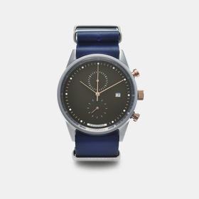 Hypergrand 41mm皮带腕表(预订)送帆布表带|魅蓝玫瑰金(新加坡)