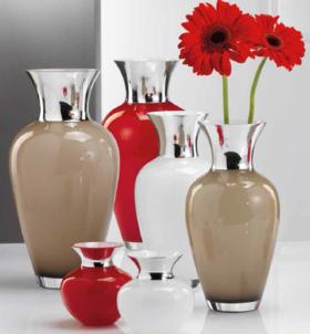 威尼斯手工玻璃镀纯银花瓶Vase